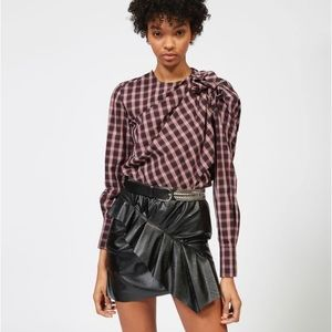 Étoile Isabel Marant Olympe Checked Blouse